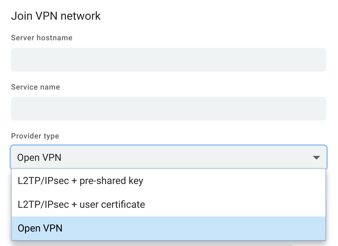 OpenVPN connection